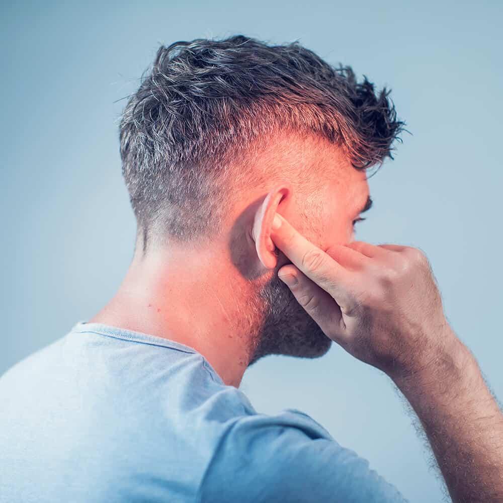 Male Having Ear Pain
